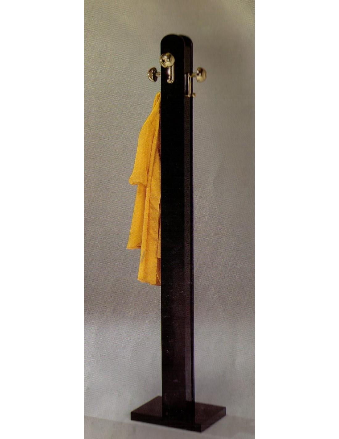 Portabiti attaccapanni a colonna in legno laccato nero o - Portabiti in legno ...