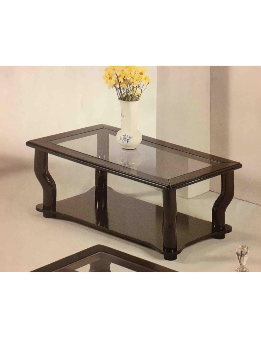Tavolino da salotto moderno rettangolare in legno laccato for Tavolino salotto bianco laccato