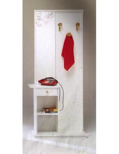 Attaccapanni Moderno Ingresso.Mobile Ingresso Moderno Con Attaccapanni E Specchio In Legno Bianco