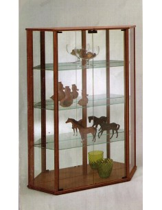 Mobile vetrina moderna espositore legno schienali specchio nero