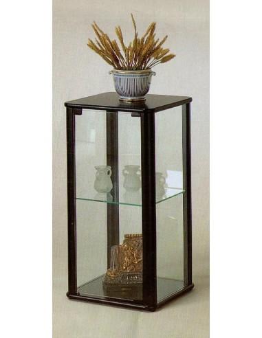 Mobile vetrina moderna espositore legno noce