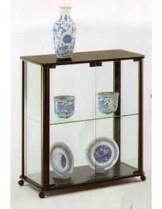 Mobile vetrina moderna espositore legno laccato nero con ruore