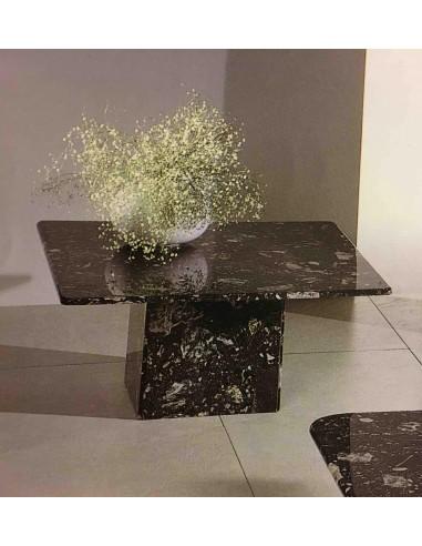 Tavolino Da Salotto In Marmo.Tavolino Da Salotto Quadrato Tutto In Marmo Colore Nero Arredo
