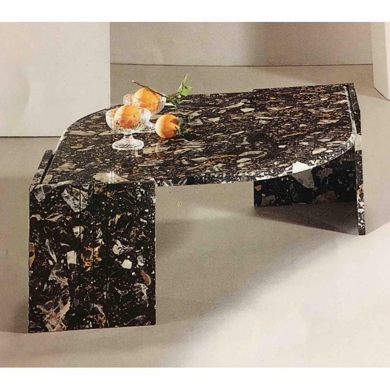 Tavolino da salotto a goccia tutto in marmo colore nero