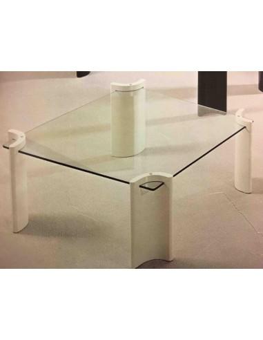 Tavolino da salotto quadrato in legno...