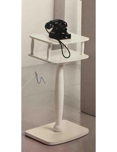 Colonna porta telefono rettangolare in legno laccato bianco