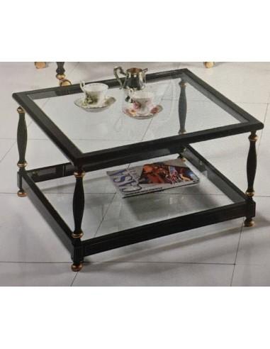 Tavolino da salotto quadrato in legno laccato bianco o for Tavolino salotto nero