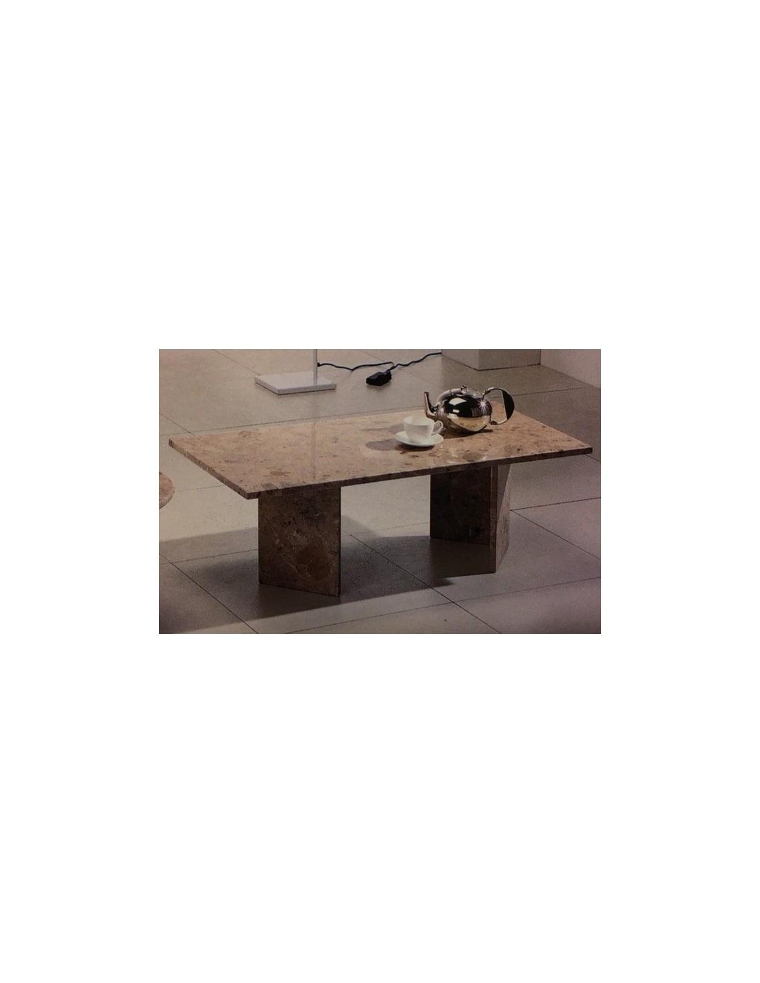 Tavolino da salotto rettangolare tutto in marmo colore for Tavolino salotto nero