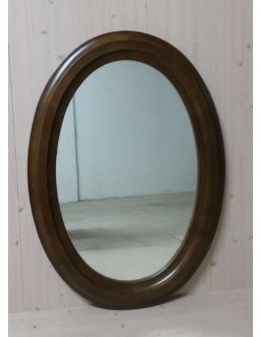 Specchio classico in legno noce