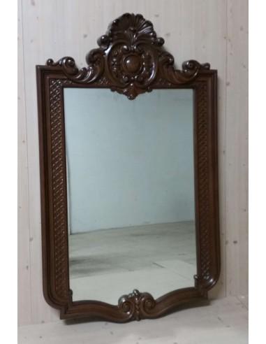 Specchio classico in legno noce...