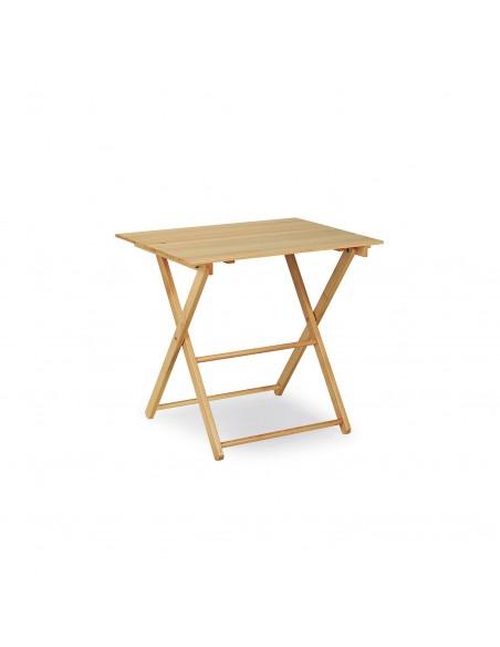 Tavolo da pic-nic pieghevole in legno naturale 80x60
