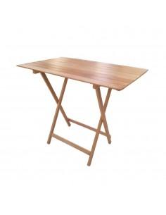 Tavolo da pic-nic pieghevole in legno naturale 100x60