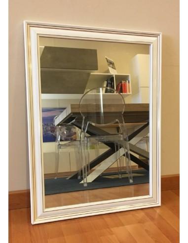 Specchio con cornice in legno colore...