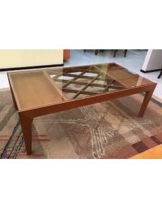 Tavolino da salotto moderno rettangolare colore naturale