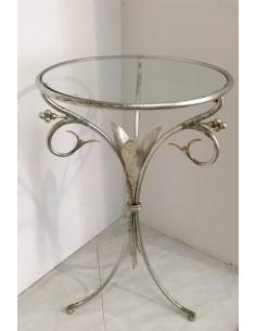 Tavolino foglia argento